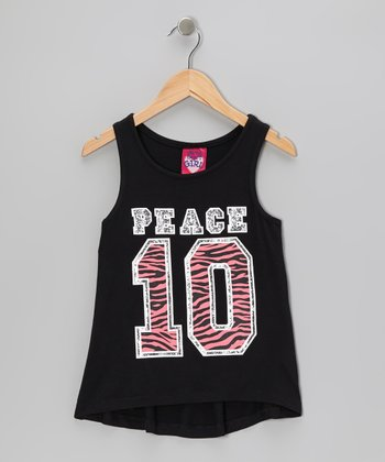 True Black '10' Hi-Low Jersey Tank
