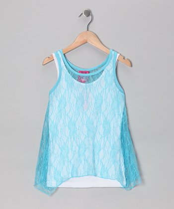 Hawaii Blue Lace Sidetail Tank Set