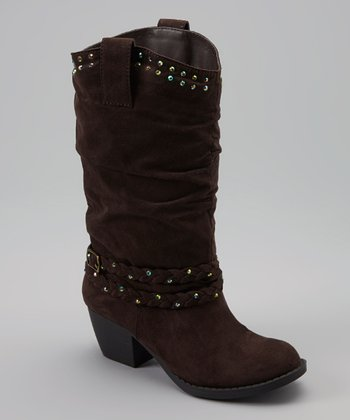 Brown Suede Ginger-G Boot