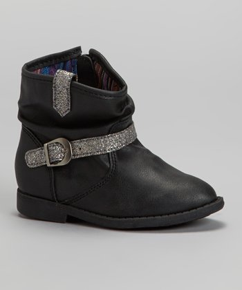 Black Pup Cowboy Boot