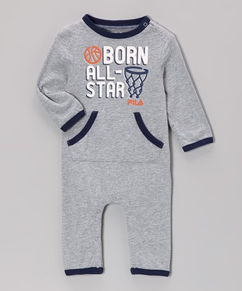 Heather Gray 'Born All-Star' Playsuit
