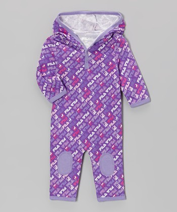 Purple Logo Hooded Playsuit
