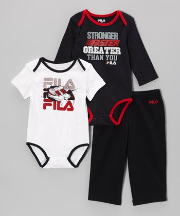 White & Black Sneaker Bodysuit Set