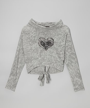 Gray Heart Top