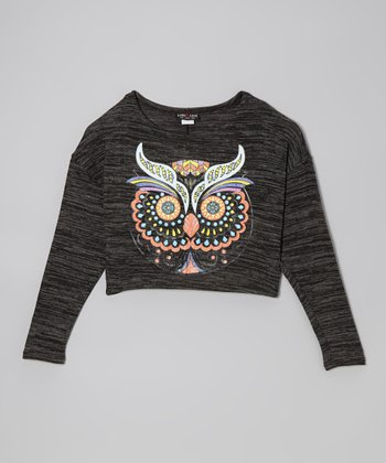 Gray Owl Dolman Top