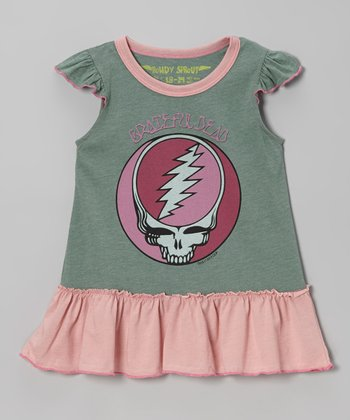 Smoked Pine 'Grateful Dead' Drop-Waist Dress - Infant & Girls
