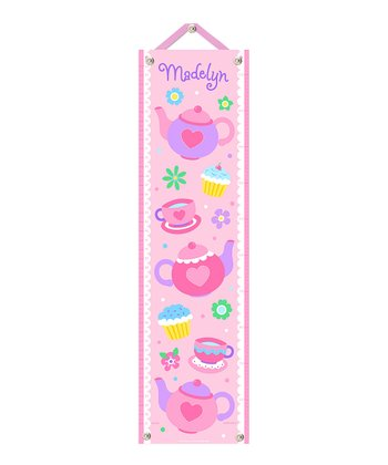 Tea Party Personalized Growth Chart