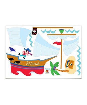 Pirate Ship Personalized Jumbo Wall Mural