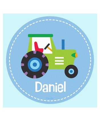 Tractor Personalized Wall Dotz Decal
