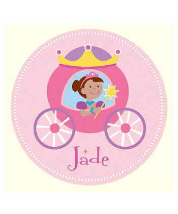 Dark-Haired Princess Personalized Wall Dotz Decal