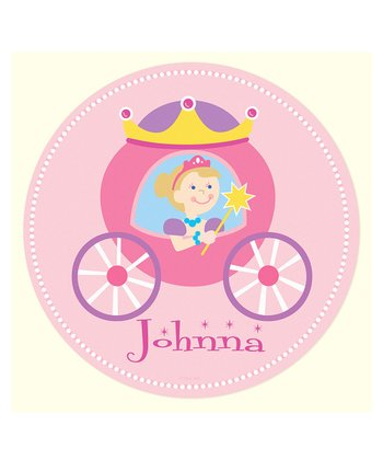 Blonde-Haired Princess Personalized Wall Dotz Decal