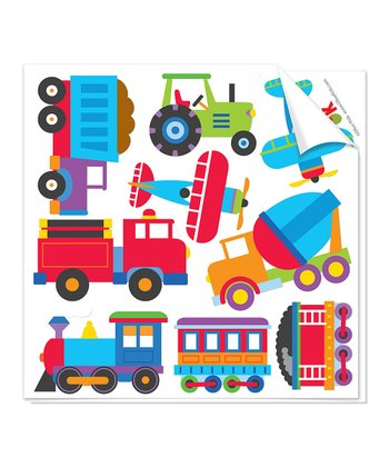 Trains, Planes & Trucks Cutout Decal Set