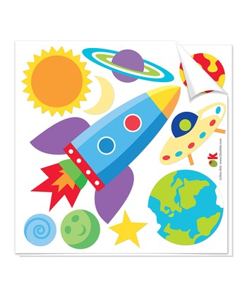 Out of this World Cutout Decal Set