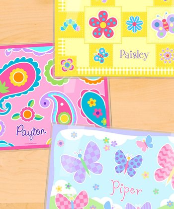 Flowers Personalized Place Mat - Set of Three