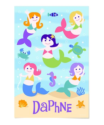 Mermaid Personalized Art Print