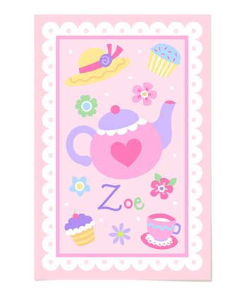 Tea Party Personalized Art Print