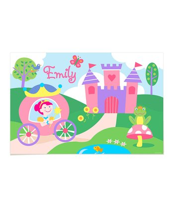 Light Brown-Haired Princess Personalized Art Print