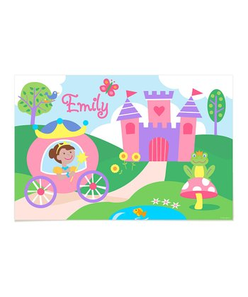 Dark Brown-Haired Princess Personalized Art Print