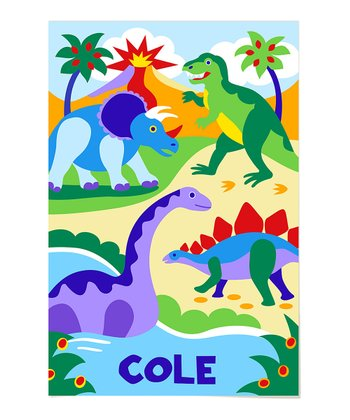 Dino Personalized Art Print