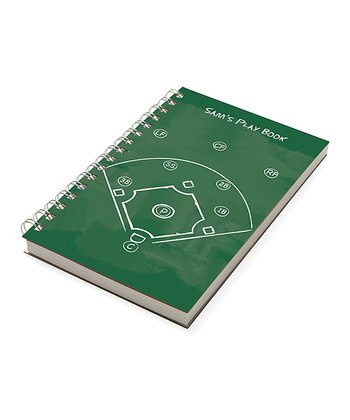 Green Baseball Personalized Chalkboard Notebook