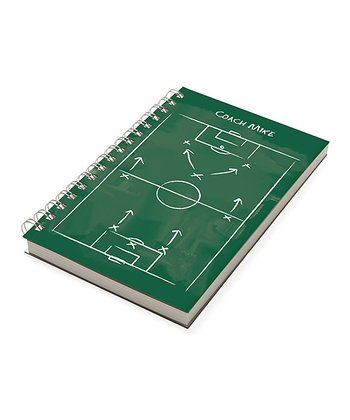 Green Soccer Personalized Chalkboard Notebook
