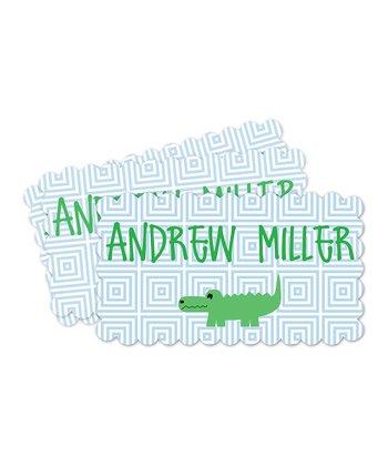 Alligator Personalized Label Set