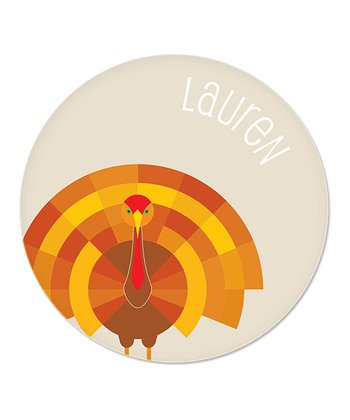 Cream Turkey Personalized Plate
