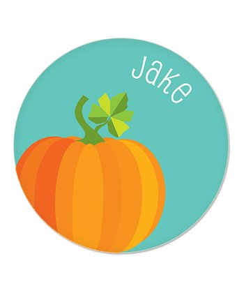 Teal Pumpkin Personalized Plate