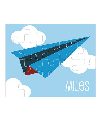 Paper Airplane Personalized Puzzle
