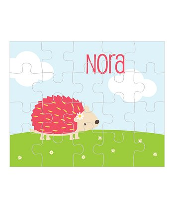 Hedgehog Personalized Puzzle