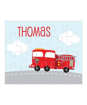Fire Truck Personalized Puzzle