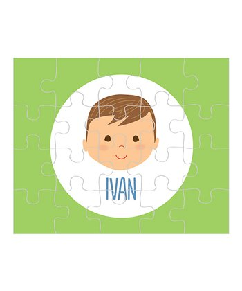 Light Brown-Haired Boy Personalized Puzzle