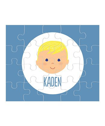Yellow-Haired Boy Personalized Puzzle