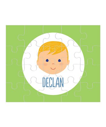 Amber-Haired Boy Personalized Puzzle