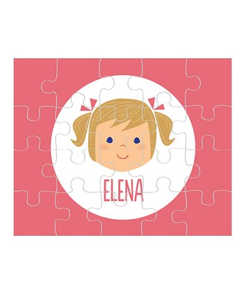 Dark Yellow-Haired Pigtails Girl Personalized Puzzle