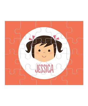 Black-Haired Pigtails Girl Personalized Puzzle