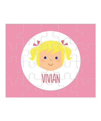 Light Yellow-Haired Pigtails Girl Personalized Puzzle