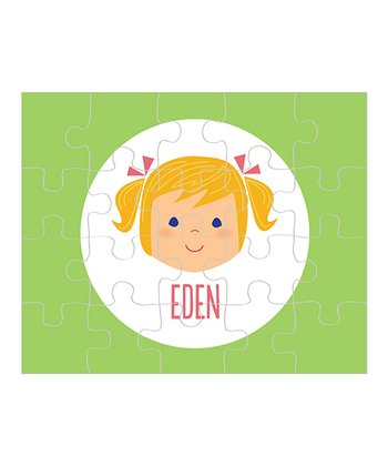 Amber-Haired Pigtails Girl Personalized Puzzle