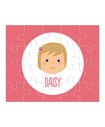 Dark Yellow-Haired Girl Personalized Puzzle