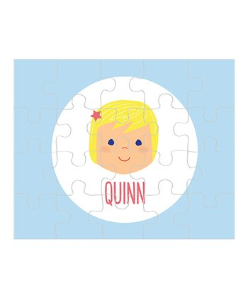 Light Yellow-Haired Girl Personalized Puzzle