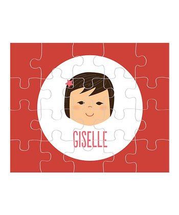 Black-Haired Girl Personalized Puzzle