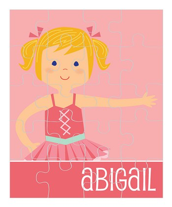 Amber-Haired Pigtails Ballerina Personalized Puzzle