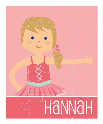 Dark Yellow-Haired Ponytail Ballerina Personalized Puzzle