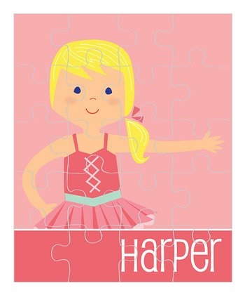 Light Yellow-Haired Ponytail Ballerina Personalized Puzzle
