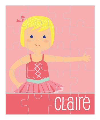 Light Yellow-Haired Ballerina Personalized Puzzle