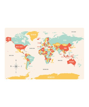 World Map Place Mat