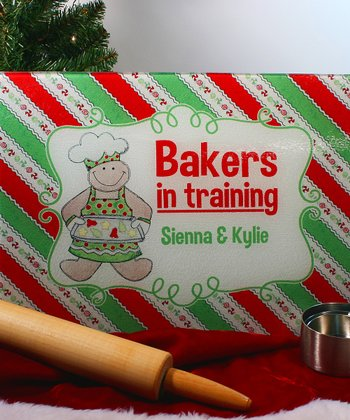Christmas 'Bakers in Training' Personalized Cutting Board