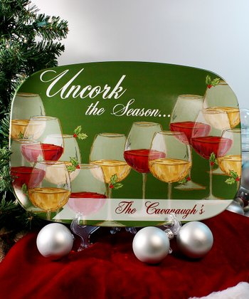 'Uncork the Season' Personalized Platter