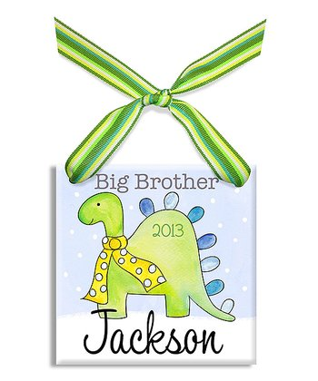 Big Bro Dino Personalized Ornament