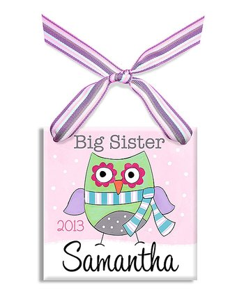 Big Sis Owl Personalized Ornament